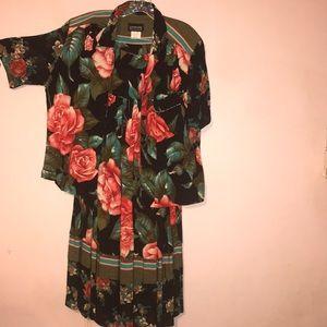 Floral print 2 piece skirt